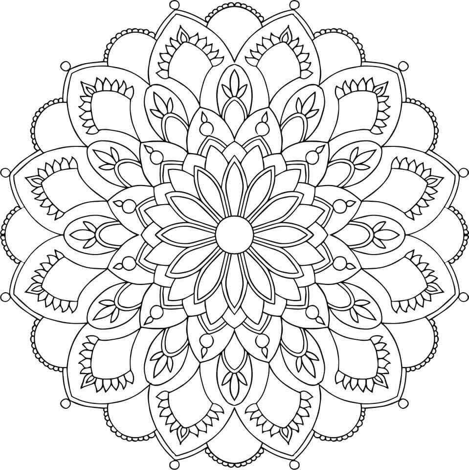 Pin von Michele Madsen Belden auf mandala coloring | Pinterest ...