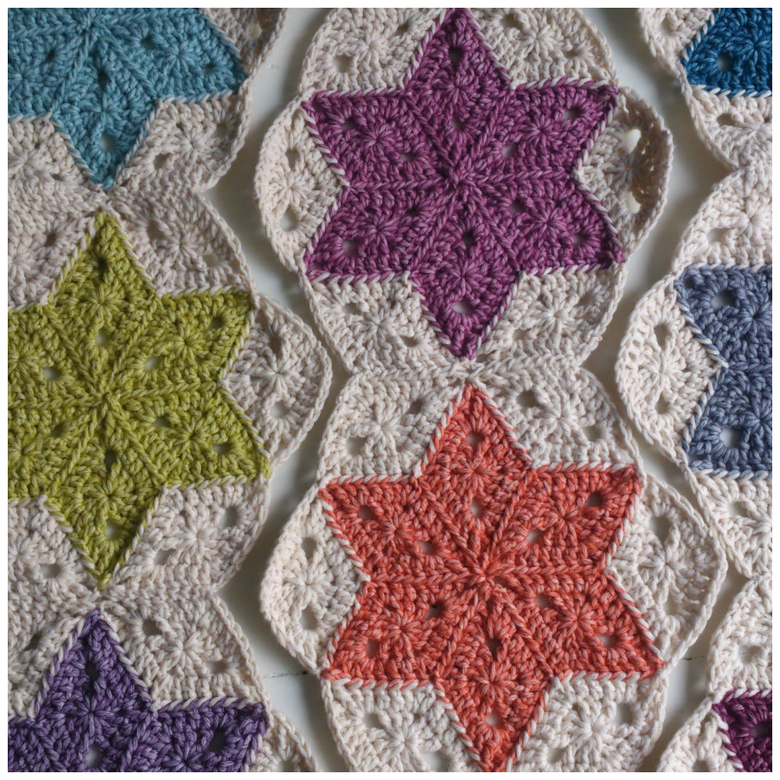 Atty\'s : Pattern/Photo Tutorial Star Blanket | Afghans & Blankets ...