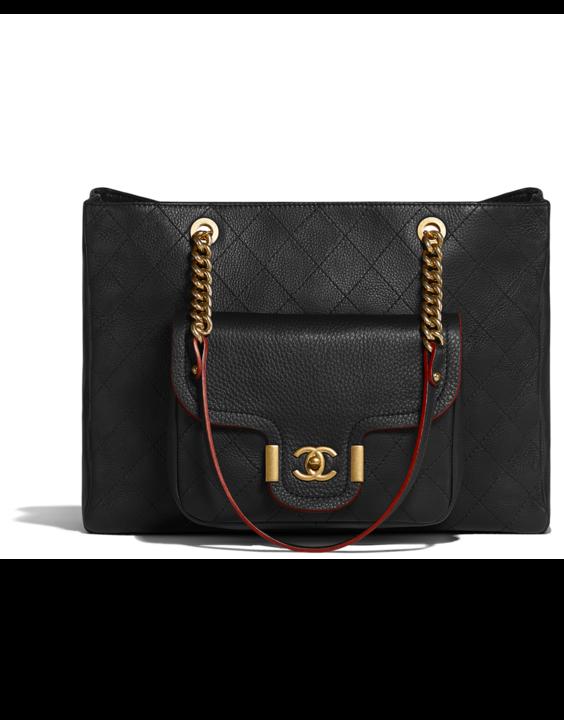 Fall Winter 2017 18 Lambskin Silver Black Chanel Handbagsdesigner
