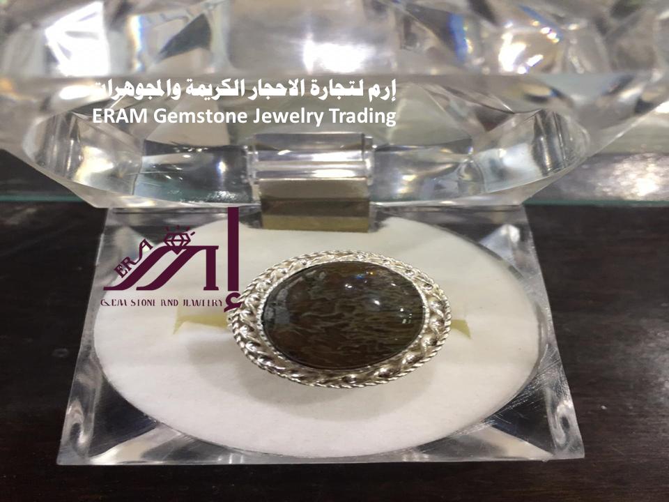 خاتم عقيق يمني نسائي دودي جلد الحية طبيعي 100 Agate Perfume Bottles Gemstones Perfume
