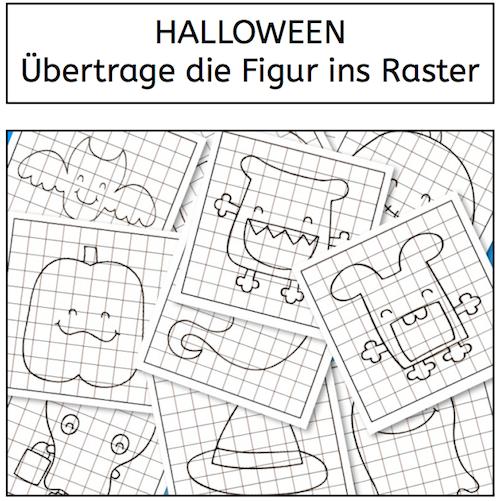 halloween bertrage die figur ins raster kinder arbeitsbl tter legasthenie und wahrnehmung. Black Bedroom Furniture Sets. Home Design Ideas