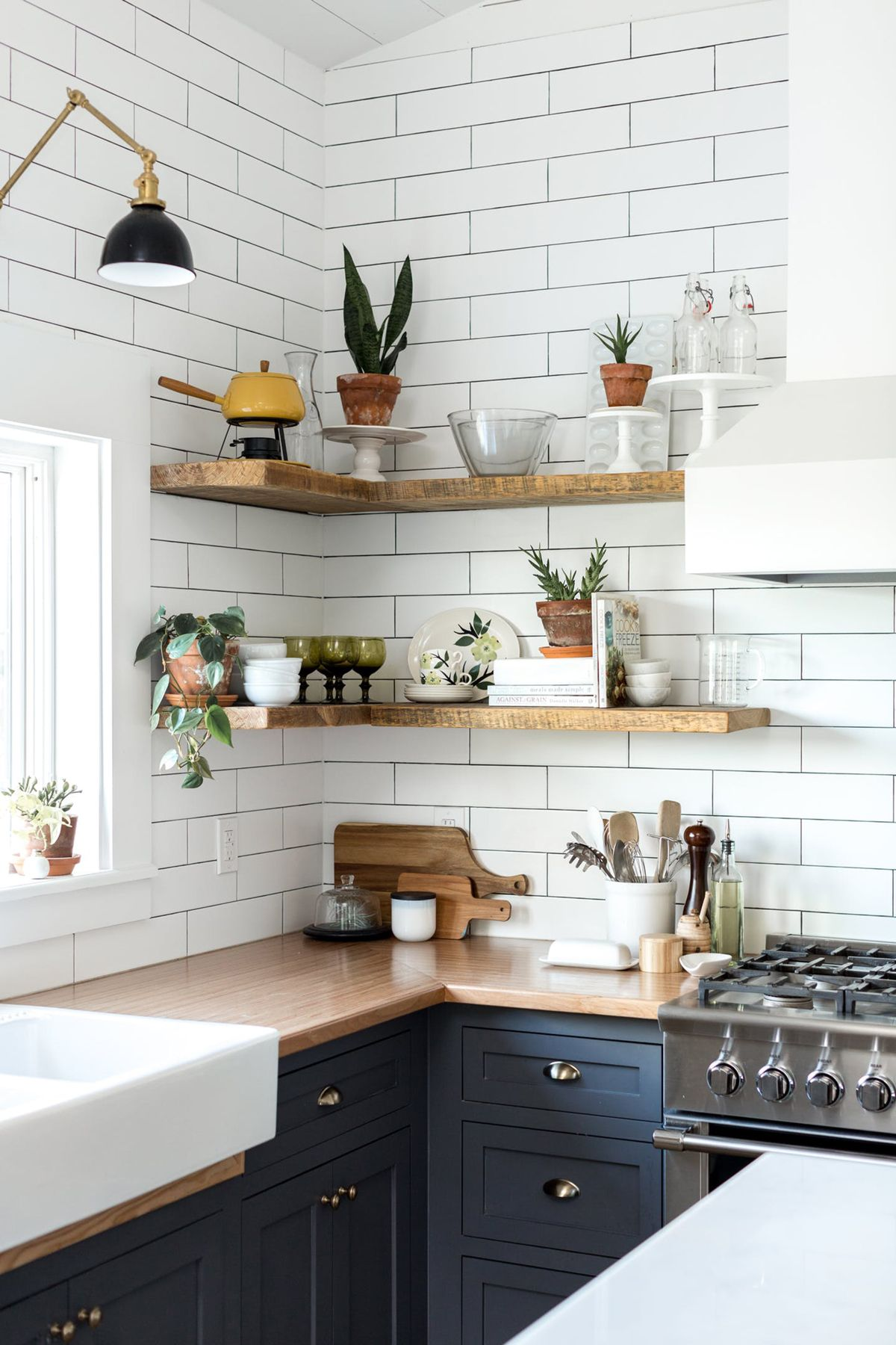 Styled open shelving in the kitchen of this vintage eclectic barn room week coco kelley also shelves decorating ideas design rh pinterest
