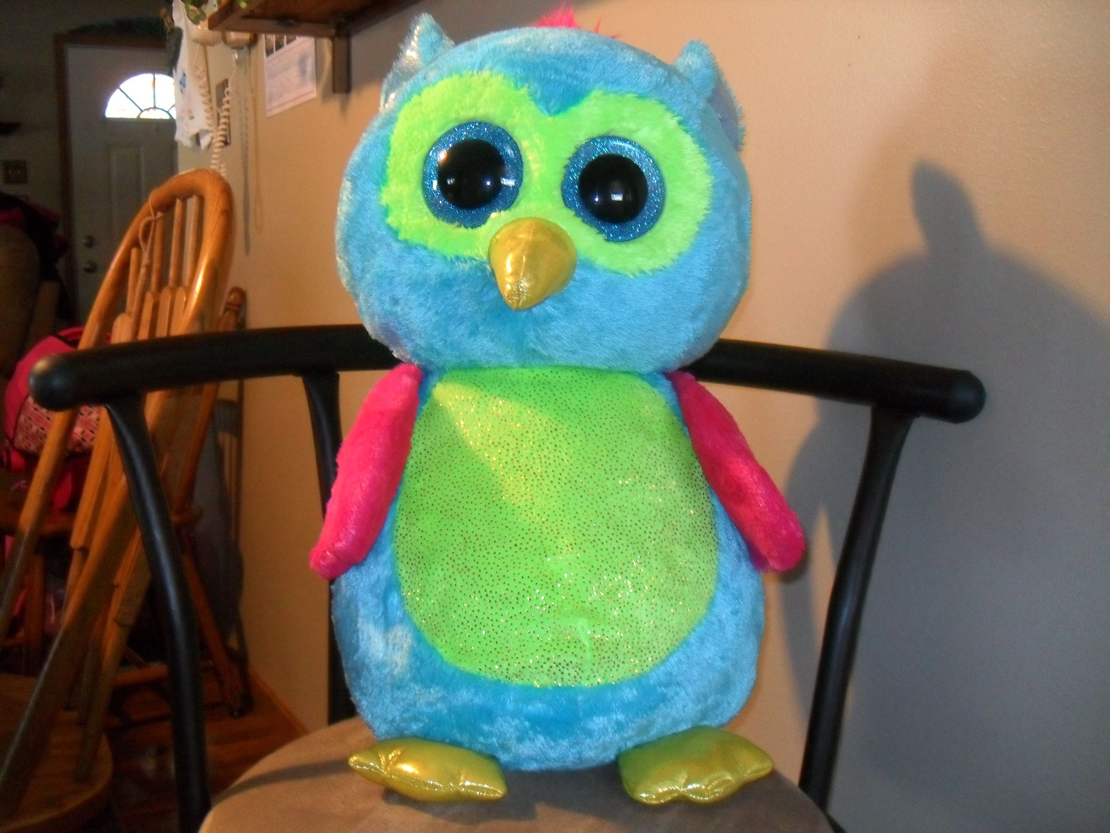 Love My Owl From Justice Store Giant Beenieboo Stuffed Animals