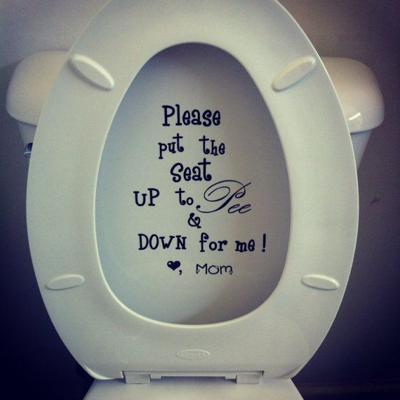 Choice of colour! Home Décor Put Me Down funny bathroom toilet seat vinyl decal sticker Home & Garden