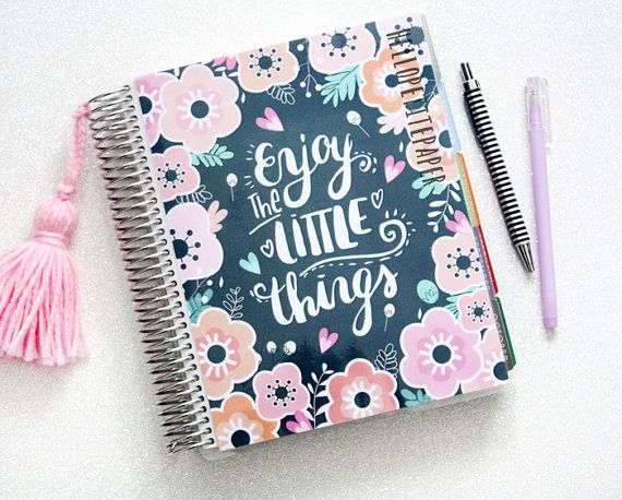 Erin Condren Planner Cover Bloom Collection Floral Illustration Lettering One Planner Cover Planner Erin Condren Erin Condren Planner Cover