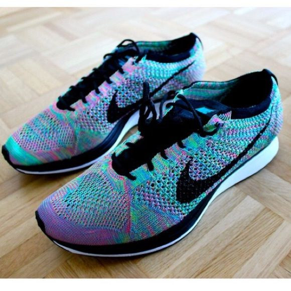 6728a18e4532f Nike TR flyknit lunar Roshe fly multicolor racer Used a couple times.  Excellent condition. Authentic - no box Nike Shoes Sneakers