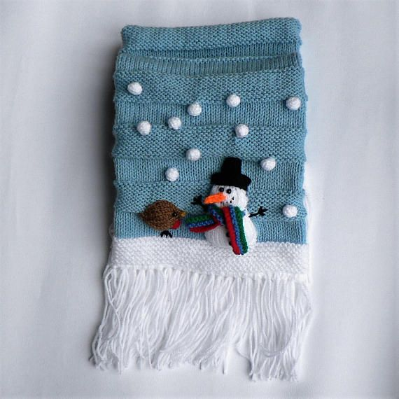 Let It Snow Is A Knitting Pattern For A Cosy Fun Knit Fringed Scarf