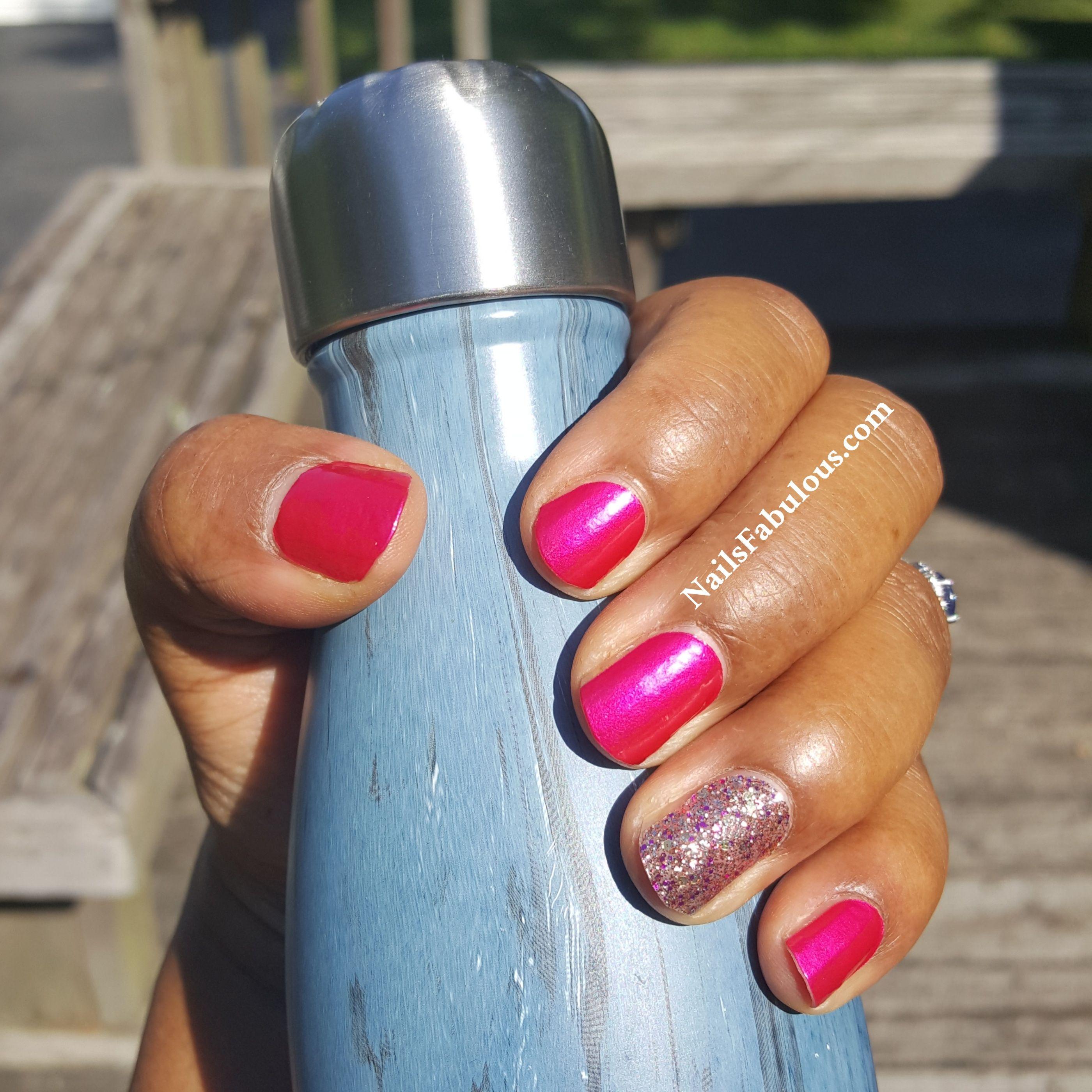 Color Street Miami Beach and Tokyo Lights accent nail NailsFabulous ...