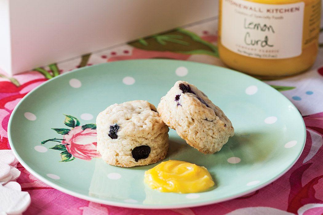 Blueberry Sour Cream Scones Teatime Magazine Recipe Sour Cream Scones Tea Time Food Cream Scones