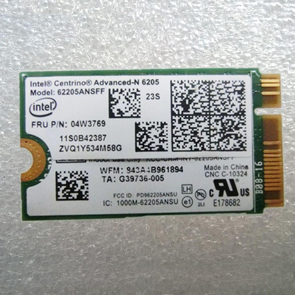 Int Centrino Advanced-N 6205 WLAN Adapter 62205ANSFF For Lenovo