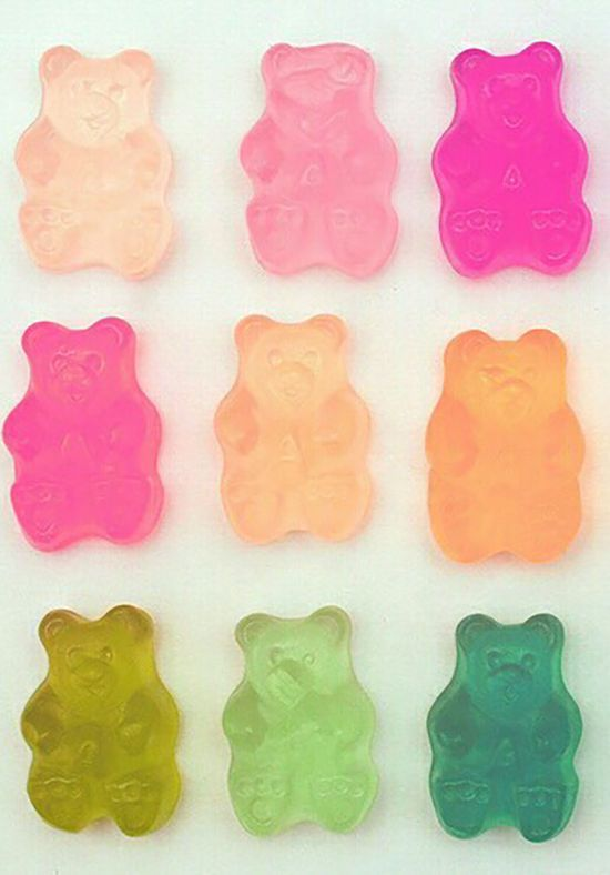 Complementary Color To Pink fun gummy bear colors, color inspiration, color palette, color