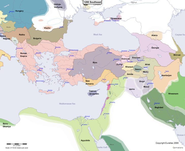 Map Showing Europe 1200 Southeast Map Europe Map History