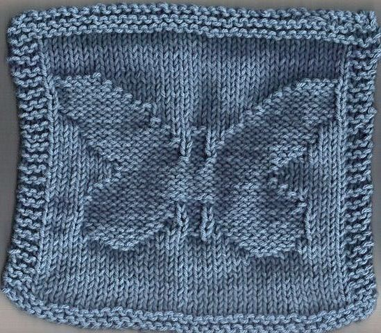 knitted butterfly dishcloth | Quick knitting projects ...