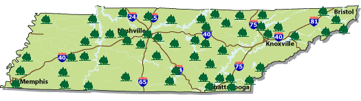 TN State Park Information Image Map Of Tennessee