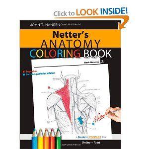 Netter S Anatomy Coloring Book Anatomy Coloring Book Anatomy And Physiology Book Coloring Books