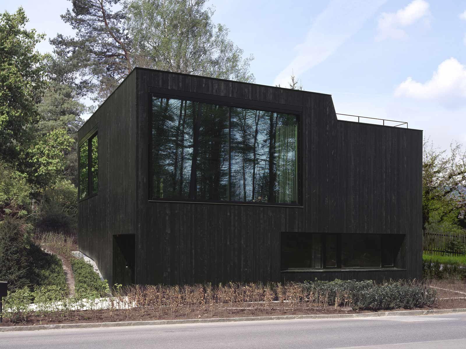 Schwarze Fassade more black for rob allen schneider schneider architekten