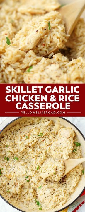 Skillet Garlic Chicken and Rice Casserole images