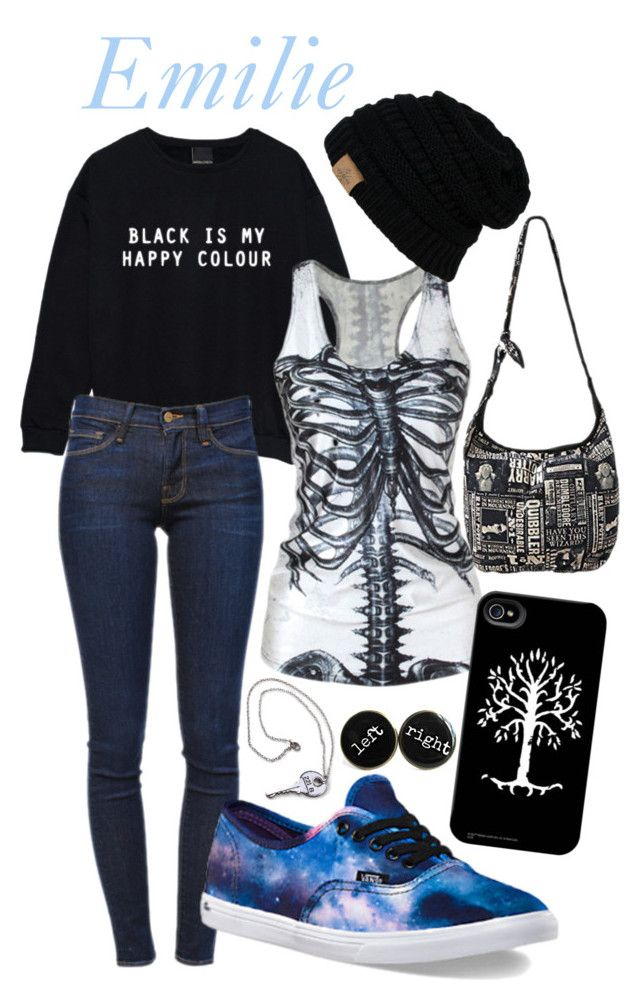 """Emile"" by cateouillette on Polyvore featuring Frame Denim and Vans"