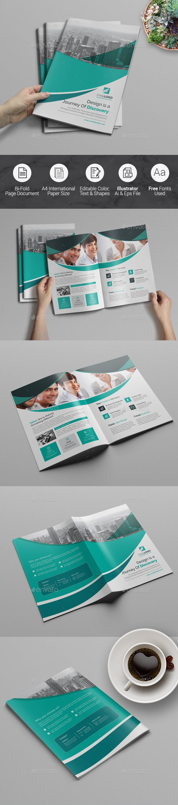 Bi Fold Multipurpose Brochure  Brochures Brochure Template And
