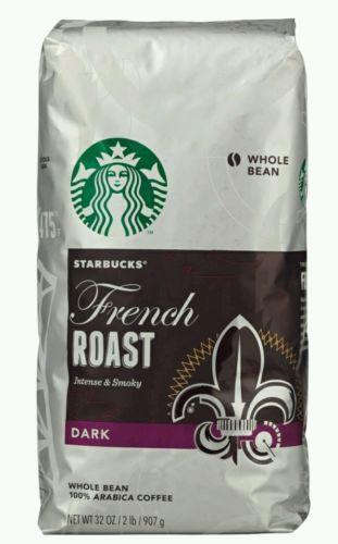 Starbucks French Roast Coffee 32 Oz Bag Whole Bean 100 Arabic 2 Lbs