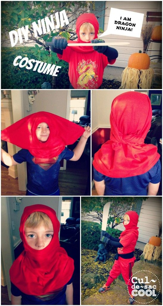 Diy costumes  sc 1 st  Pinterest & DIY NINJA COSTUME | CULDESACCOOL.COM | Playing Dress-Up | Pinterest ...