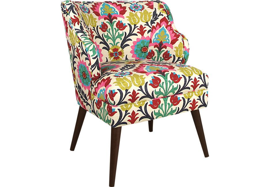 Hannah Floral Accent Chair | Seaside cottage general decor | Accent ...