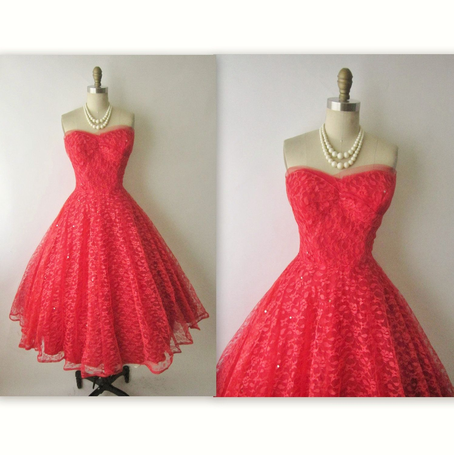 Us prom dress vintage us strapless red tulle wedding party