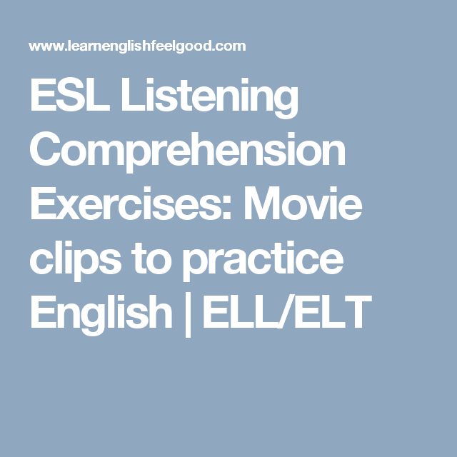 designing lessons for efl listening comprehension Useful free stuff for esl/efl students up to advanced level wednesday, january 2, 2008 13 listening comprehension (1) audio/script.
