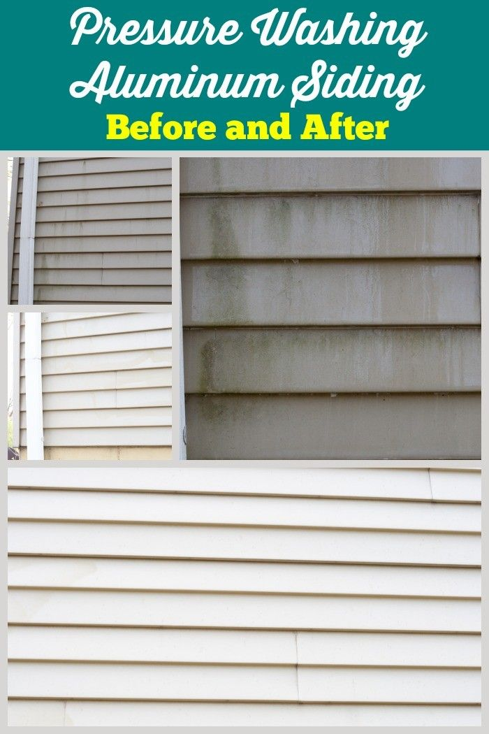 Does Pressure Washing Work My Befores And Afters Cleaning Aluminum Siding Pressure Washing Siding Wash