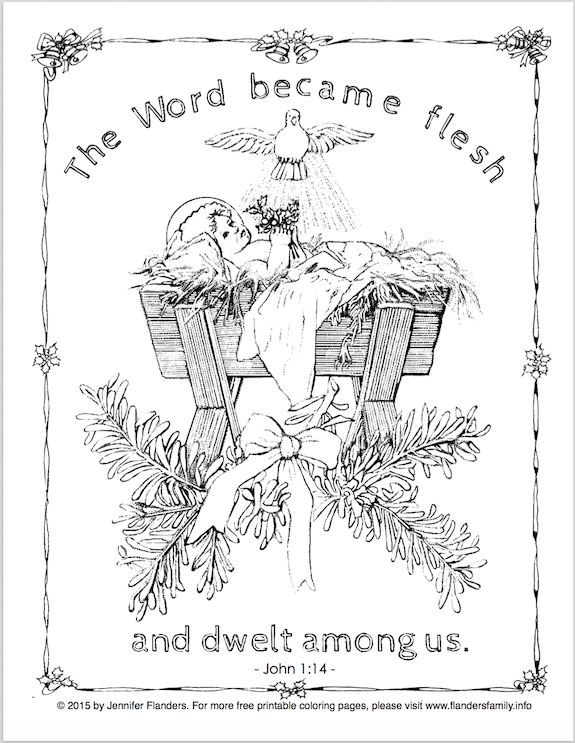 Can You Believe It S Only Five More Days Until Christmas I Know This Post Is Late But We Ve Bee Bible Coloring Pages Coloring Pages Christmas Coloring Sheets