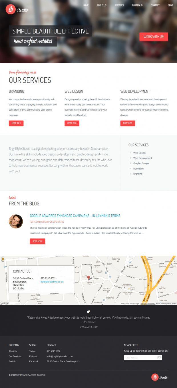 Brightbyte Studio Southampton Web Design Simple Beautiful Effective Webdesign Inspiration Www Niceoneili Web Design Web Design Inspiration Craft Websites