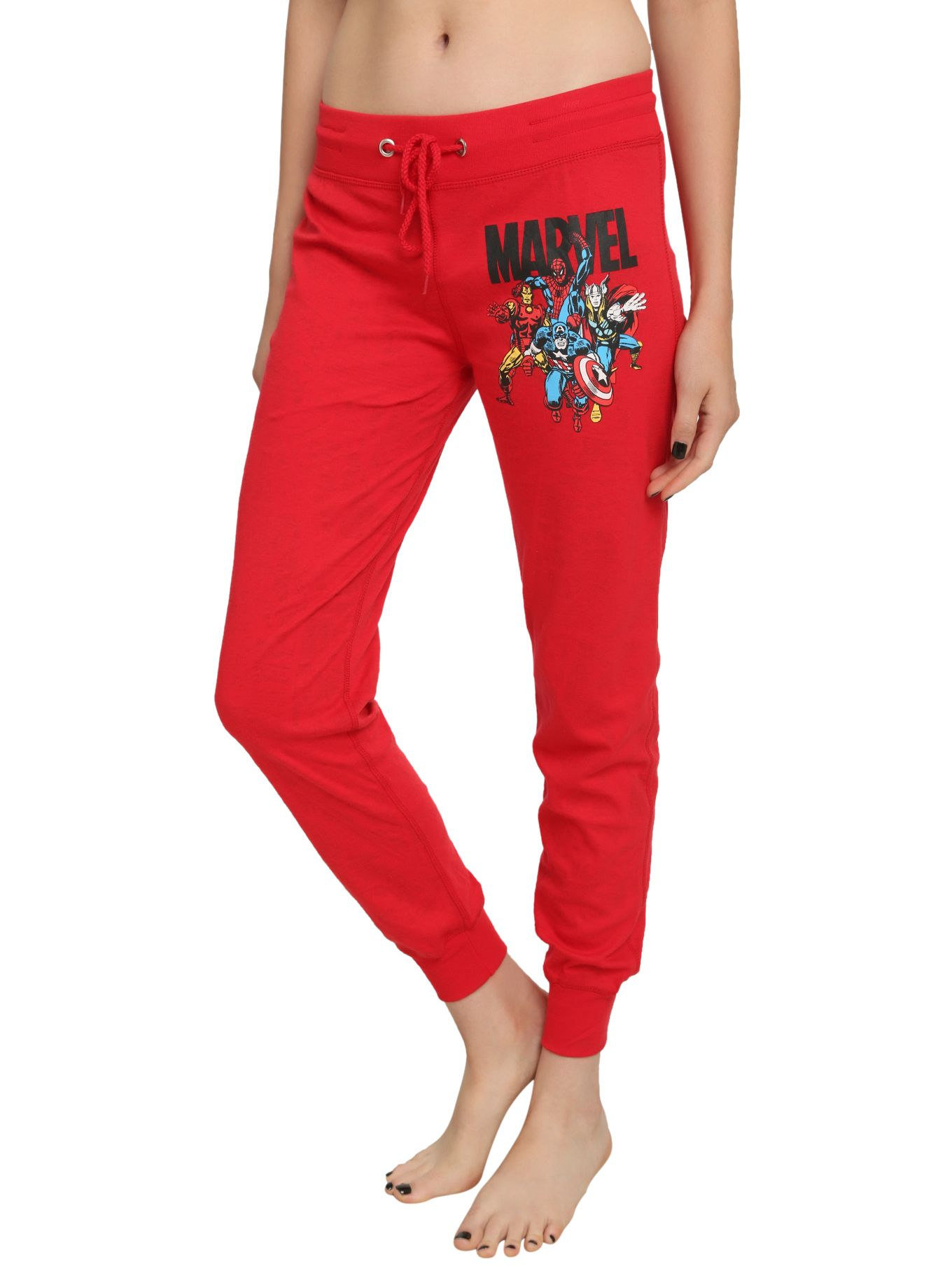 4marvel red reversible girls pajama pnts hot topic