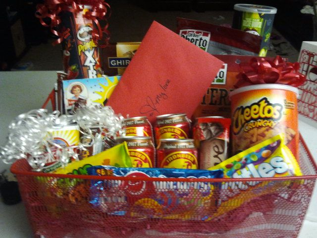 for valentines day i made a mans gift basket full of manly man snacks beef - Manly Valentine Gifts