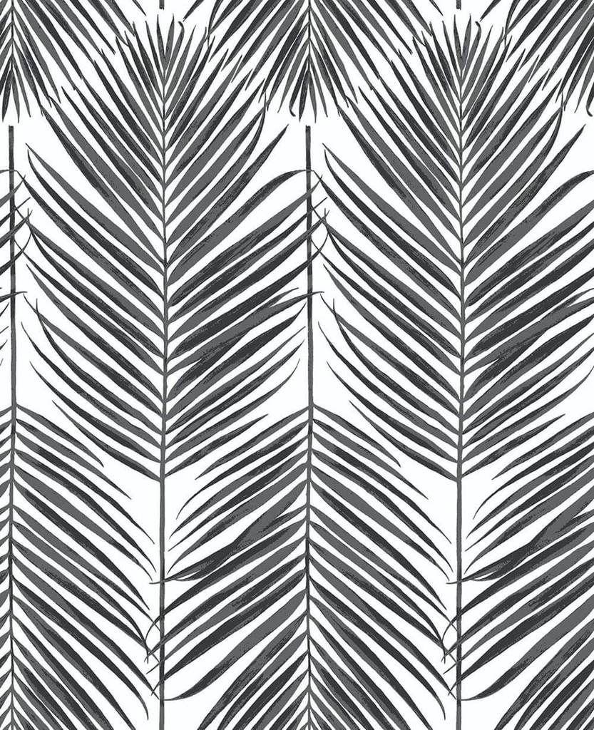 Paradise Palm Peel And Stick Wallpaper In Ebony By Nextwall In 2020 Peel And Stick Wallpaper Palm Leaf Wallpaper Self Adhesive Wallpaper