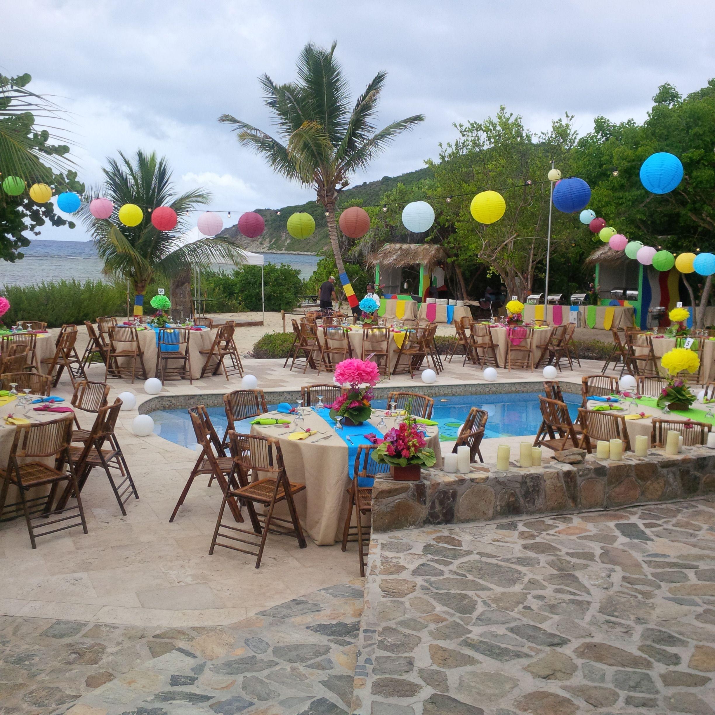 Party Island Beach: Outdoor Beach Party On Scrub Island Resort British Virgin
