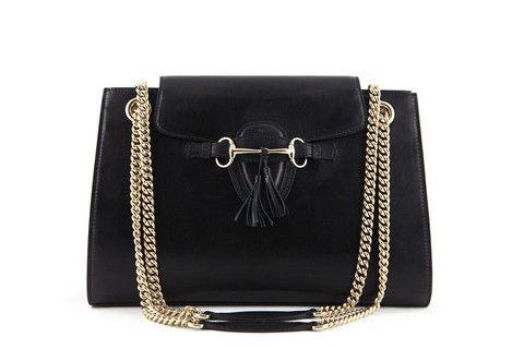 Gucci Emily Shoulder Bag in Black Leather lovethatbag