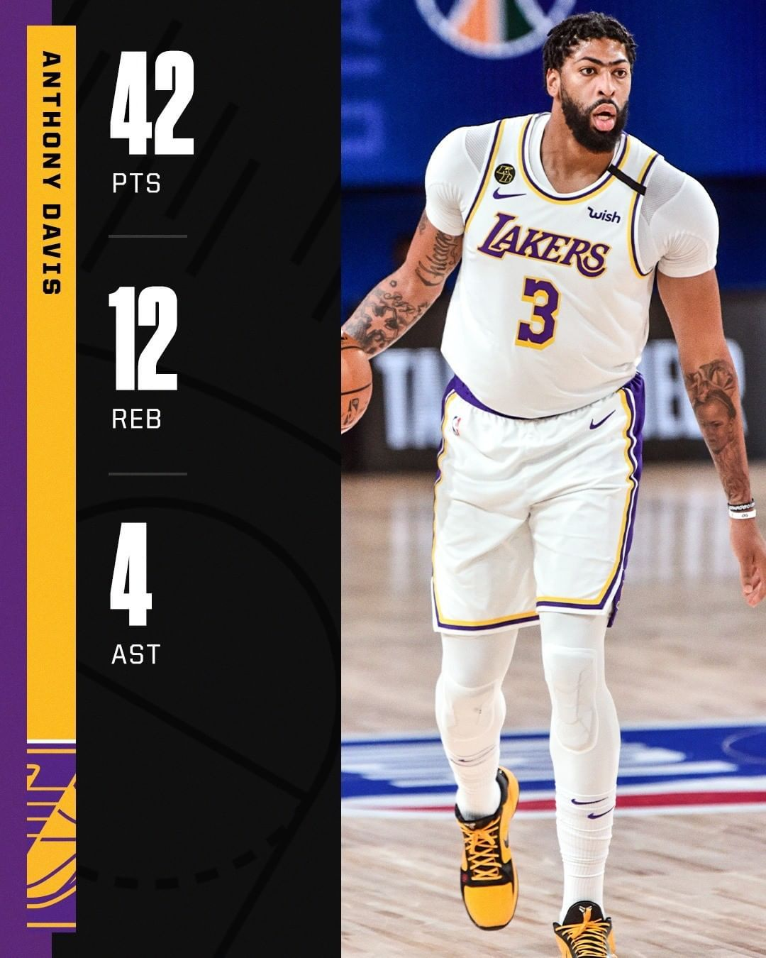 Nba On Espn On Instagram Antdavis23 Went Off Tonight For The Lakers In Their Win Vs The Jazz In 2020 Anthony Davis Sports Nba
