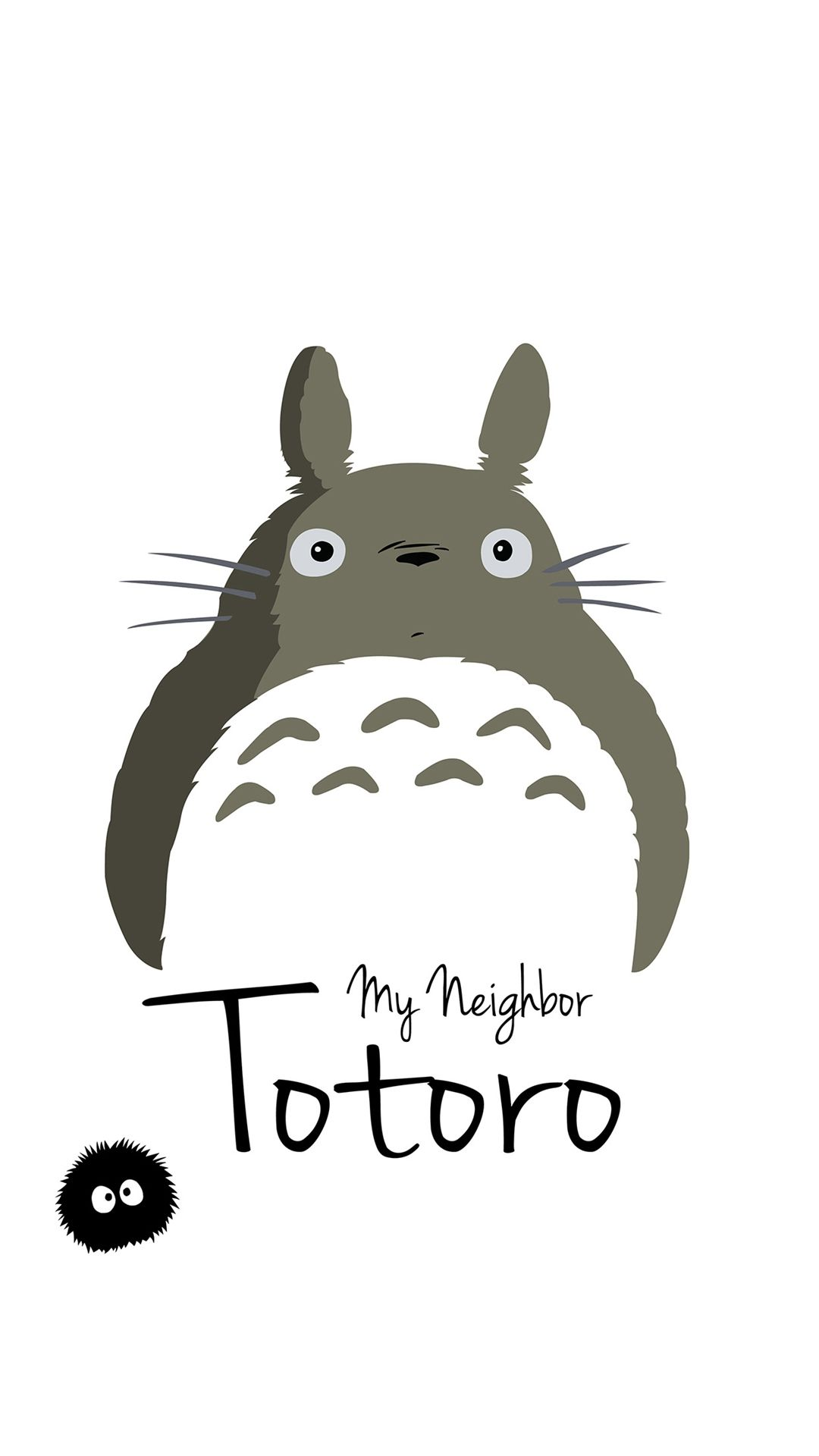 My Neighbor Totoro Art Minimal iPhone 6 wallpaper iPhone