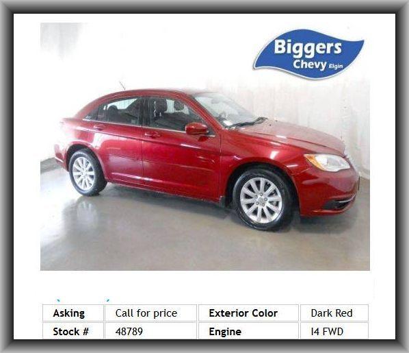 2012 Chrysler 200 Touring Sedan Driver Lumbar Trip Computer Driver Adjustable Lumbar Cruise Control Mp3 Player Chrysler 200 Cars For Sale Cruise Control