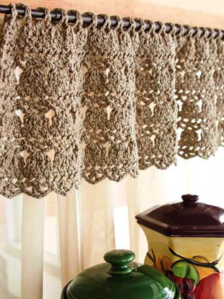 Crochet Kitchen Curtain Crochet Curtain Pattern Crochet