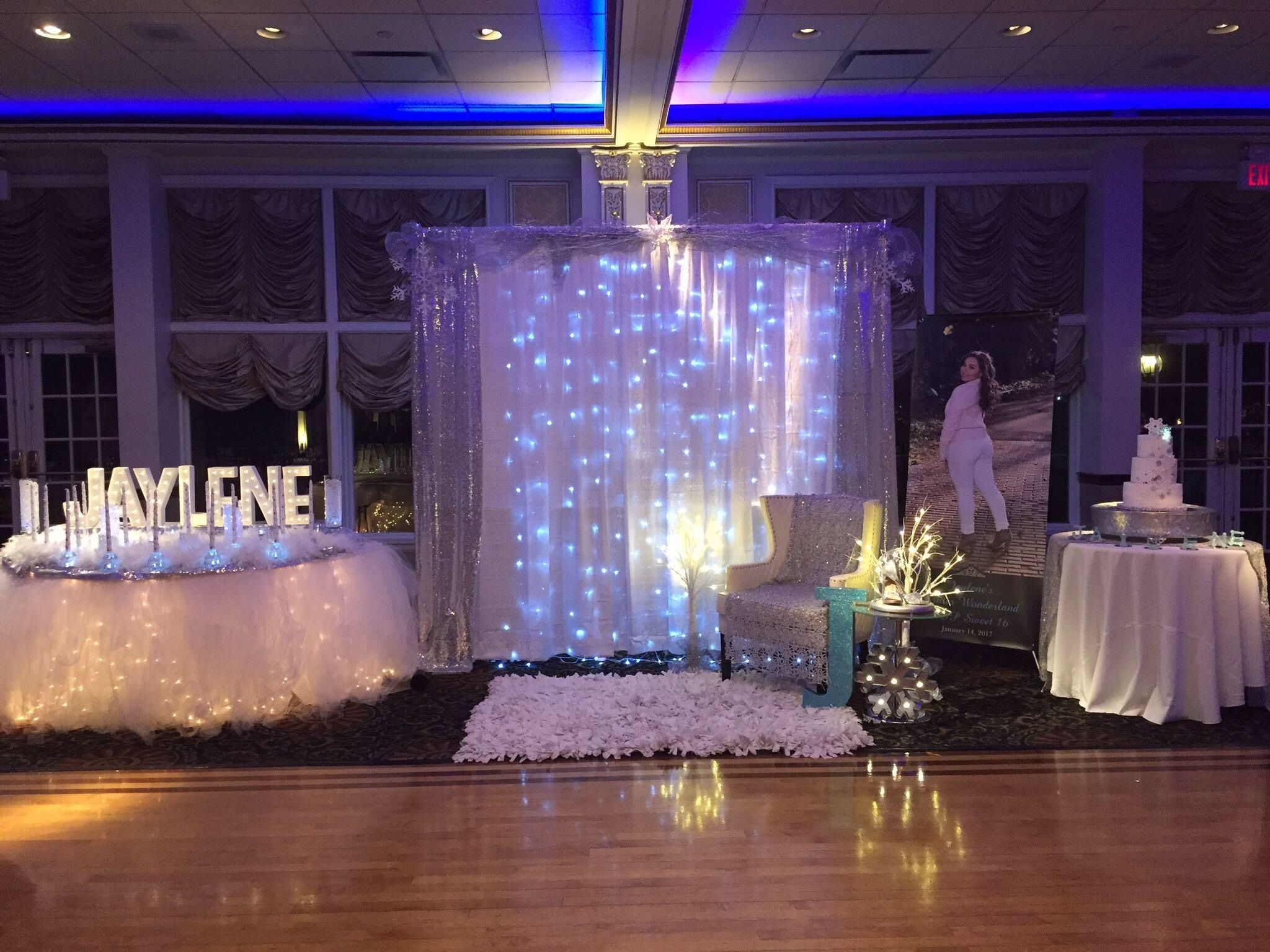 Backdrop for a Princess - Winter Wonderland Sweet 16 ...