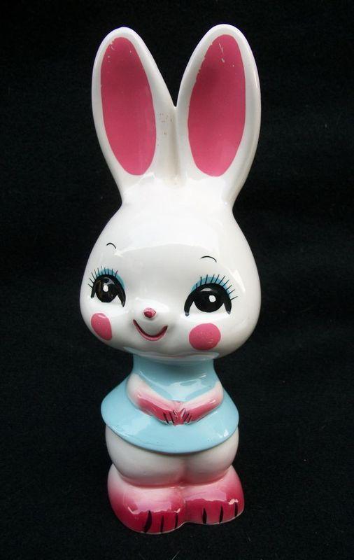 Easter Cute Vintage Bunny Made in Japan