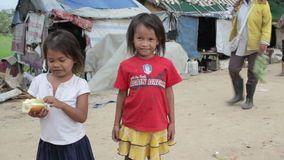 Cambodian Kids Slums Near Phnom Penh City Dumping Area