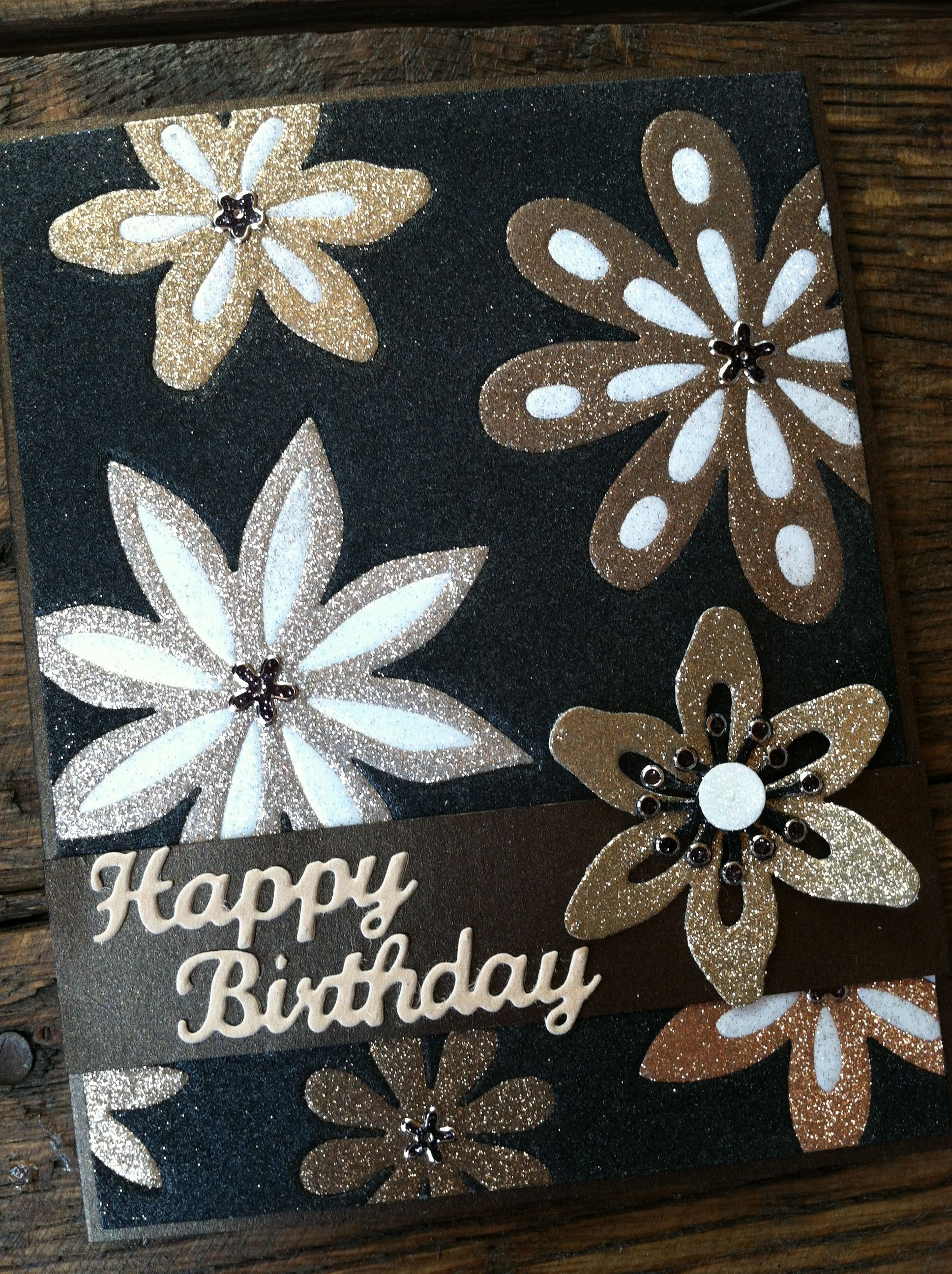 For this card i used our new elizabeth craft designs silk for Elizabeth craft microfine glitter