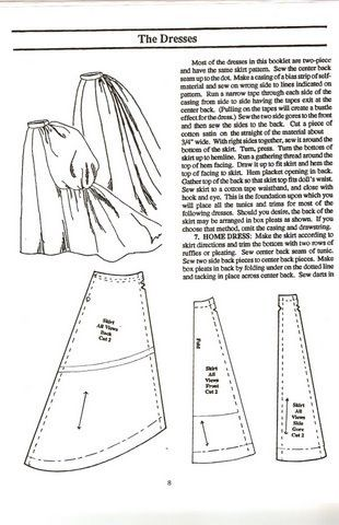 Sewing pattern - bustle skirt | victorian | Pinterest | Sewing ...