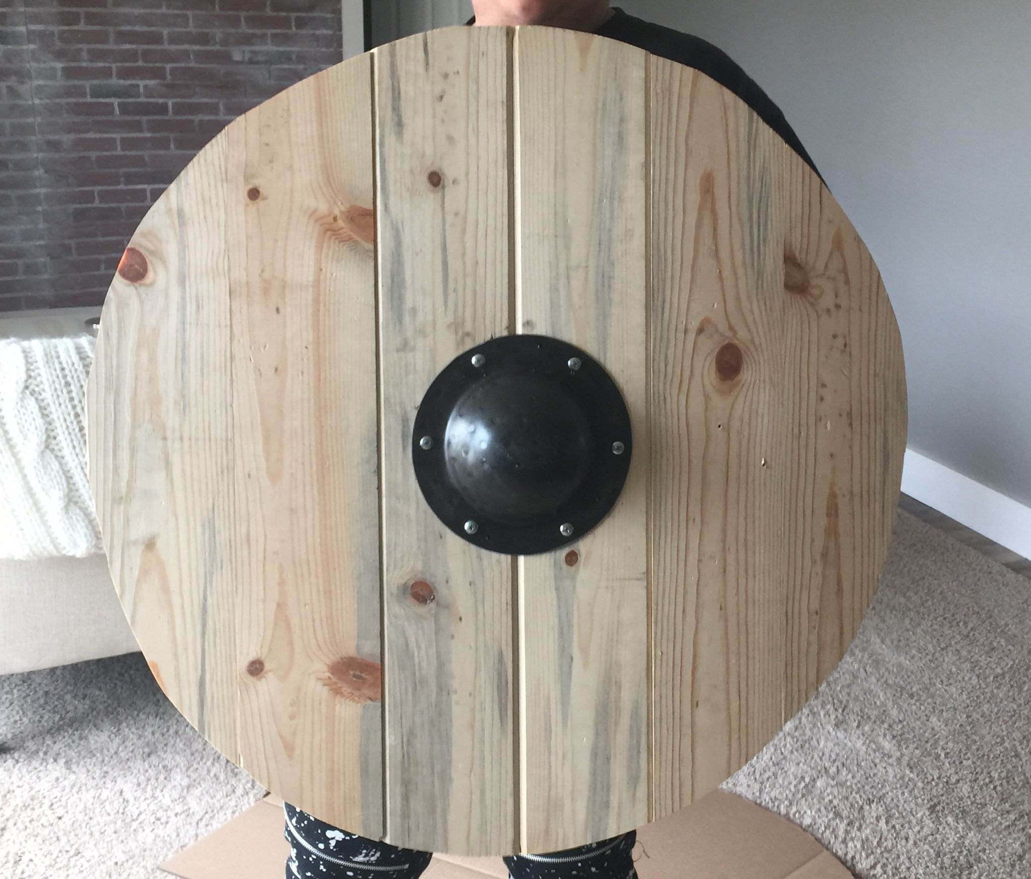 Homemade Viking Shield By Me Viking Shield Viking Shield Design Wooden Shield