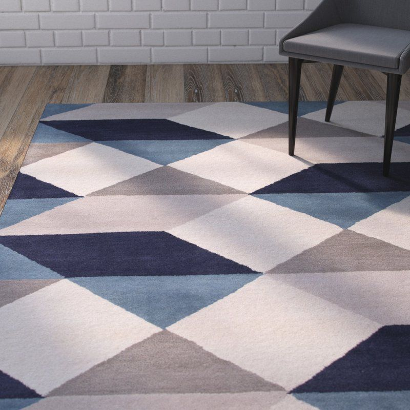 Gump Gray Blue Geometric Area Rug Reviews Allmodern Rugs On Carpet Buying Carpet Area Rugs