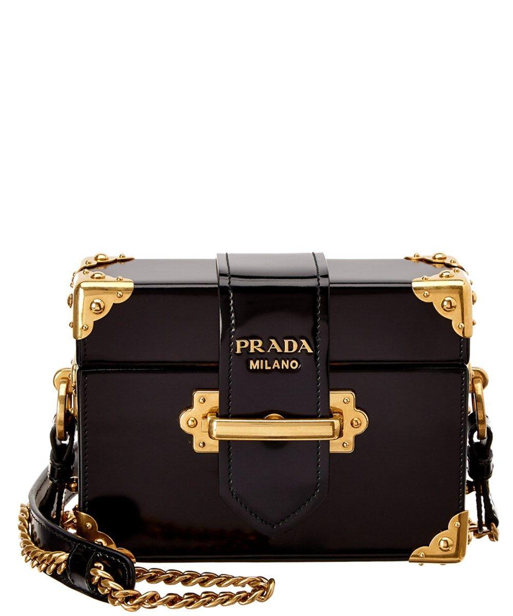 6c634784771e #prada #bags #shoulder bags #patent # Leather Shoulder Bag,