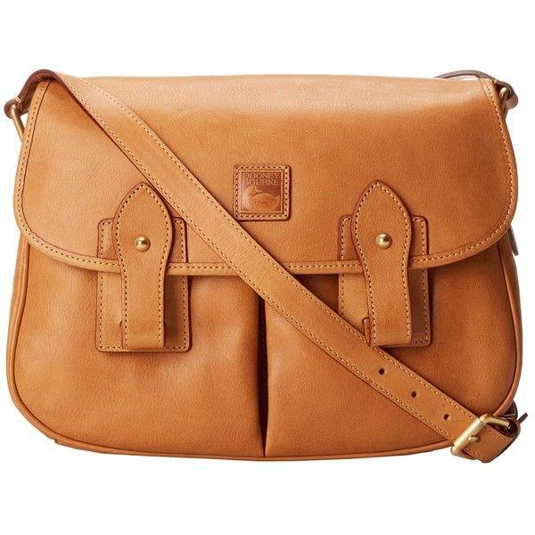 Dooney & Bourke Florentine Saddle Bag (490 CAD) ❤ liked on Polyvore featuring bags, handbags, shoulder bags, purses, accessories, natural, cross-body handbag, leather saddle bags, leather crossbody purses and handbags shoulder bags