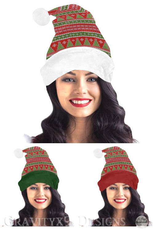 * #UglySweater Theme * Christmas Ugly Sweater Santa Style Hat / Pom-Pom Beanie by #Gravityx9 at #Artsadd #ilovexmas * Each design option is sold in the 'Accessories>BEST XMAS GIFT IDEAS section' * Traditional red and green Ugly Sweater Christmas tree pattern. Trendy Winter Wear Santa Hat Style Beanie for Holiday festivities * Custom Santa Hat Beanie * winter hat * winter cap * winter wear * winter fashion * #Christmas #winterwear #ChristmasWear #ChristmasHat #SantaHat 1219